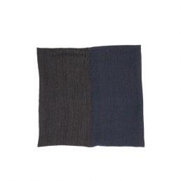 Мъжки шал в синьо и сиво с вълна