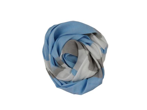 дамски шал синьо