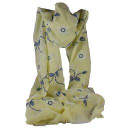 жълт шал на цветя
