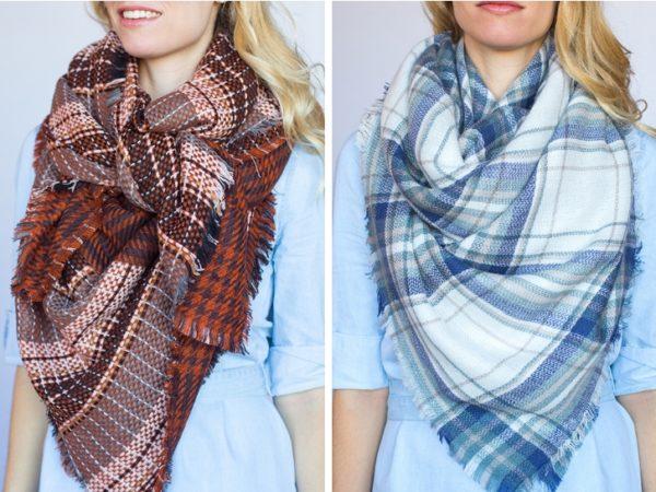 идеи за връзване на голям шал