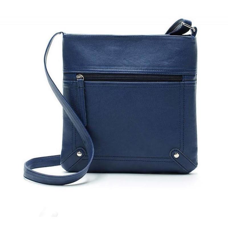 малка дамска чанта в син цвят