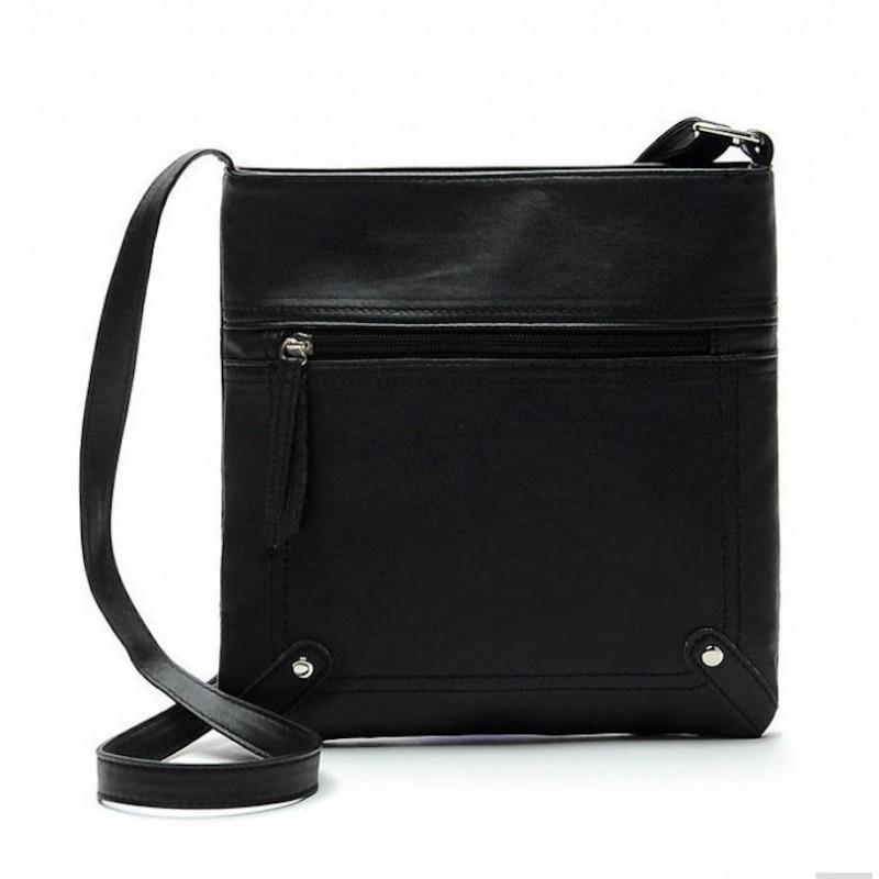 Малка дамска чанта за през рамо в черен цвят