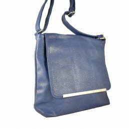 """Дамска чанта тип """"месинджър"""" в син цвят"""