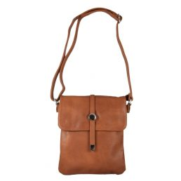 Дамска чанта за през рамо в кафяво